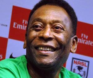 El ex futbolista brasileño Edson Arantes do Nascimento